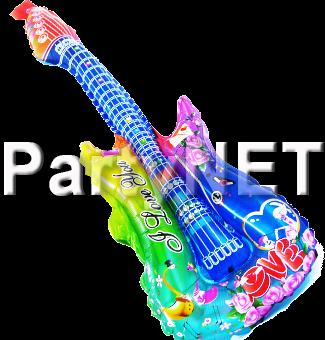 גיטרה מתנפחתלאירועים שקוף